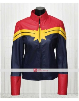 Carol Danvers Captain Comics Leather Jacket