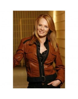 CSI Catherine Willows (Marg Helgenberger) Brown Jacket
