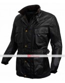 Dark Knight Rises Bane Black Leather Jacket