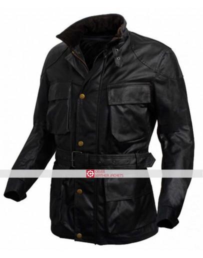 Dark Knight Rises Bane Black Leather Jacket