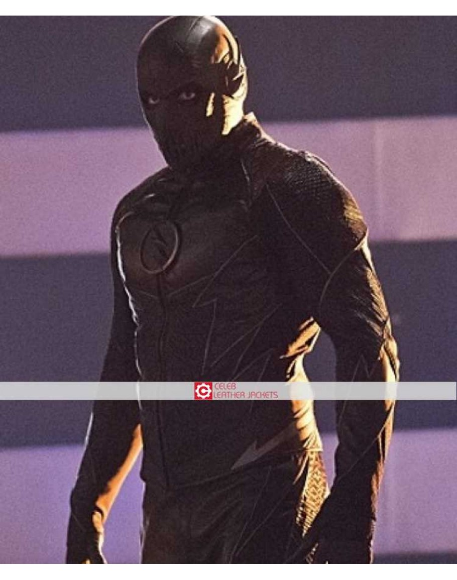 Flash Season 2 Evil Zoom Hunter Zolomon Black Jacket