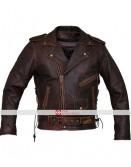 Marlon Brando Armoured Biker Distressed Leather Jacket
