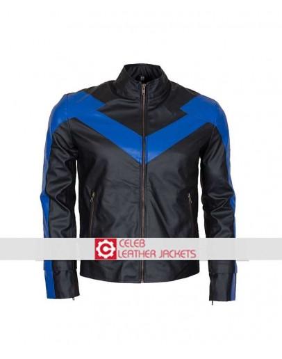 Batman Arkham Knight Nightwing Leather Jacket