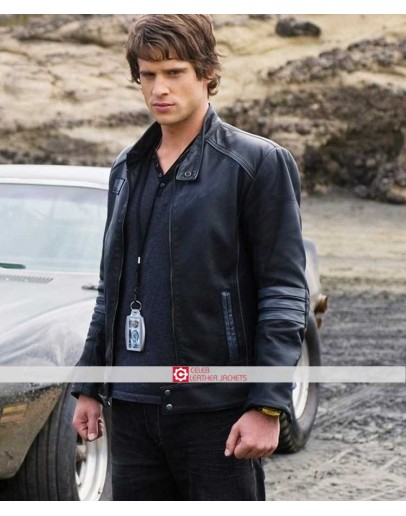 Power Rangers RPM Dan Ewing Dillon Leather Jacket