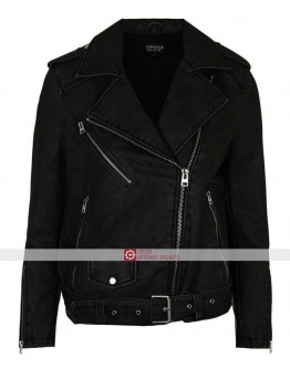 Pretty Little Liars Shay Mitchell Emily Fields Black Jacket