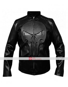 Punisher Frank Castle Skull Black Jacket