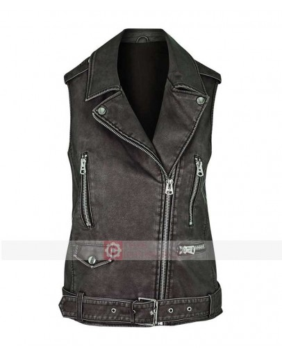 Pretty Little Liars Shay Mitchell Leather Vest