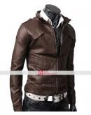Slim Fit Strap Light Brown Jacket For Men