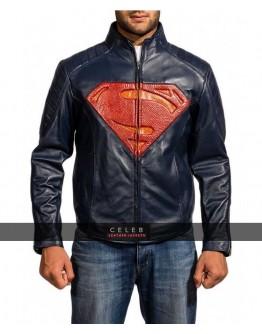 Superman Man of Steel 2 Blue Leather Jacket