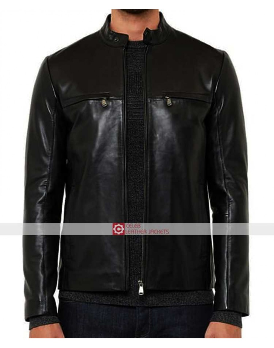 610c6194a75ca7 Ted Baker Pablo Black Leather Jacket
