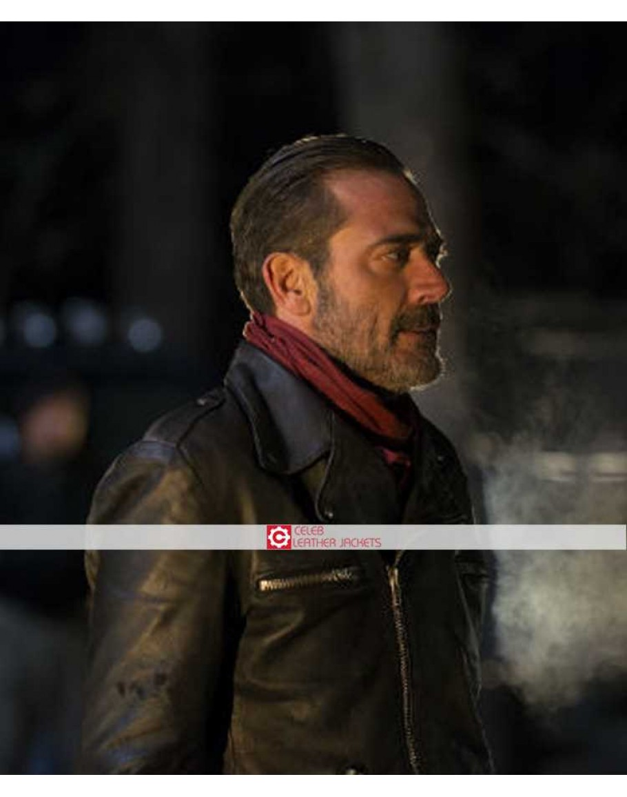 Negan The Walking Dead Saviors Series Jeffrey Dean Morgan Biker Leather Jacket