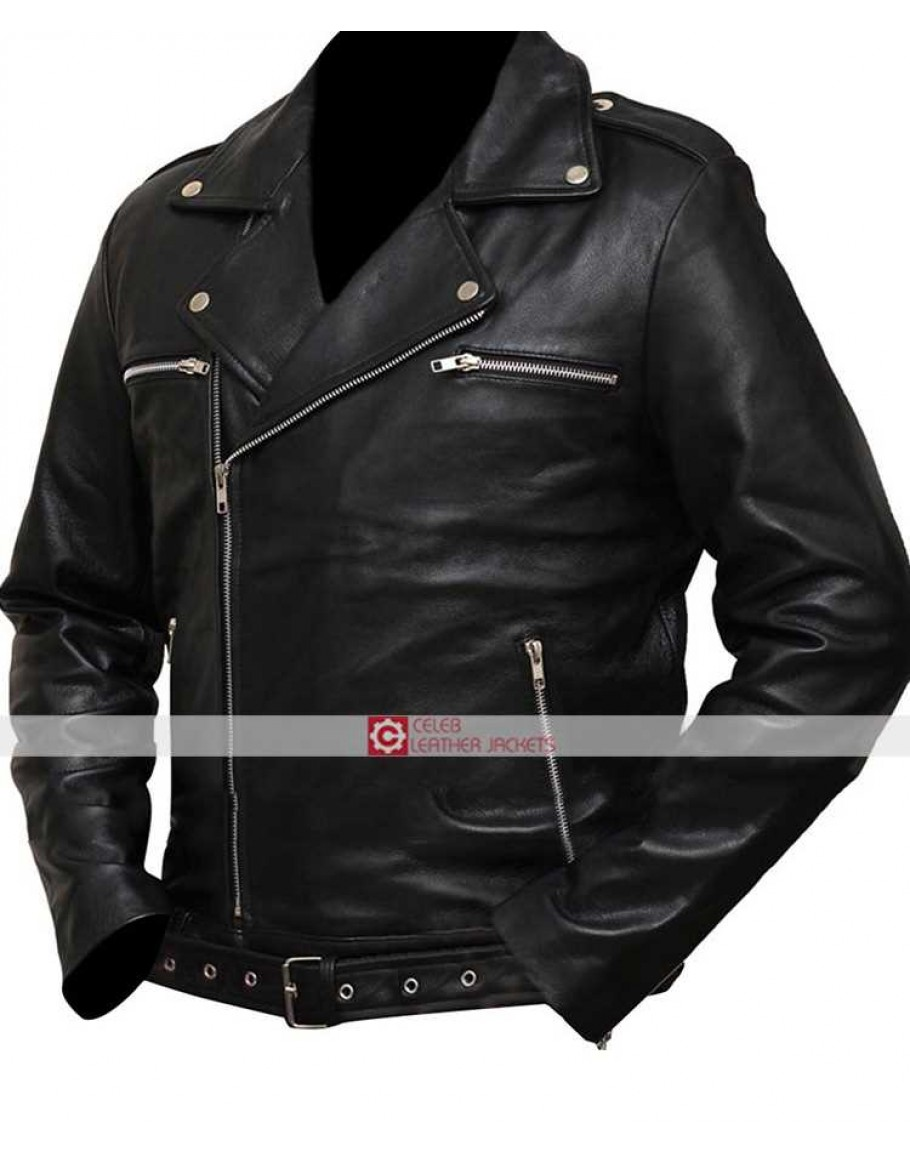 a0c5d3c15 The Walking Dead Negan Saviors Black Jacket