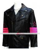 WWE Bret Hart Hitman Costume Leather Jacket